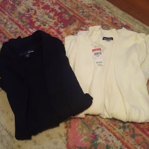 NWT Basic Editions Set of 2 Cardigan Sweaters Sz M